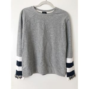 Zara Sweatshirt With Rhinestone Embellished Cuff